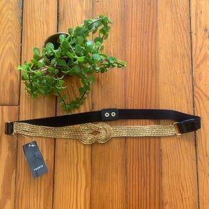 Torrid Belt Gold Metal Braid and Elastic NEW